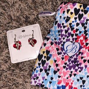 Brighton Red Heart Dangle Earrings